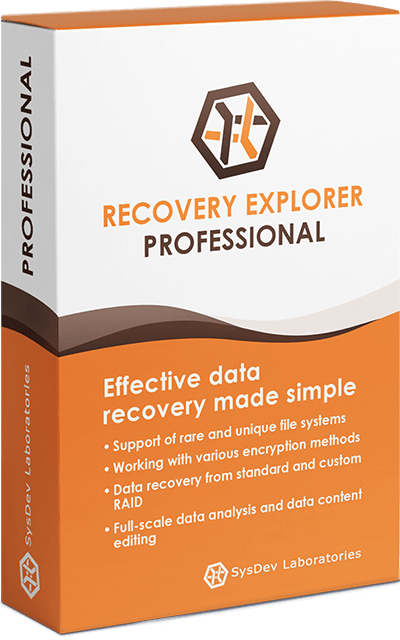 Recovery Explorer Professional box