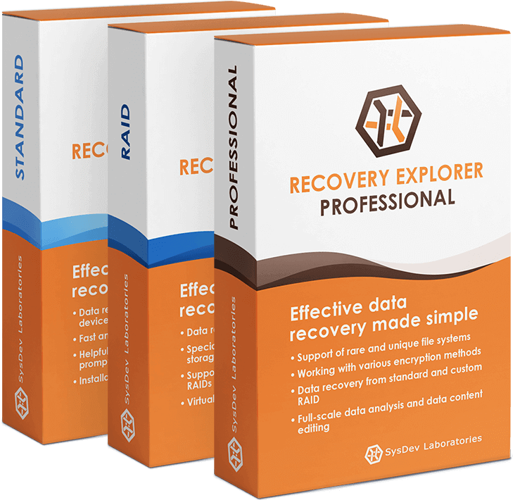Recovery Explorer software products
